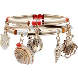 Bay Studio Shell Charms Gold Tone Bracelet Set