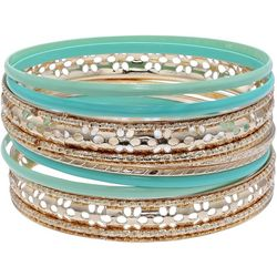 Bay Studio Gold Tone Multi Bangle Bracelet Set