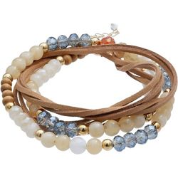 Bay Studio Beads & Suede Wrap Bracelet