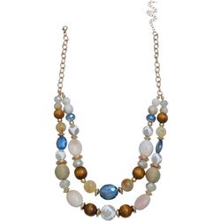 Bay Studio Two Row Beaded Front Necklace