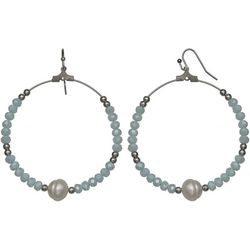 Bay Studio Beaded Freshwater Pearl Hoop Earrings