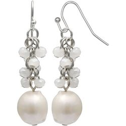 Bay Studio White Cluster Freshwater Pearl Dangle Earrings
