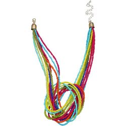 Bay Studio Multi Seedbead Knot Front Necklace