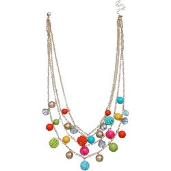 Bay Studio 4 Row Multi Bead Shaky Layered Necklace