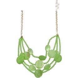 Bay Studio Lime Shell 4Row Frontal Necklace