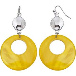 Bay Studio Dyed Yellow Shell Donut Drop Earrings