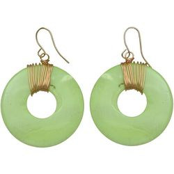 Bay Studio Lime Shell Wire Wrap Earrings