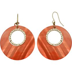 Bay Studio Coral Shell Donut Drop Earrings