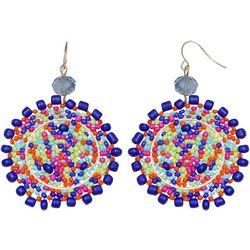 Bay Studio Seedbead Woven Medallion Drop Earrings