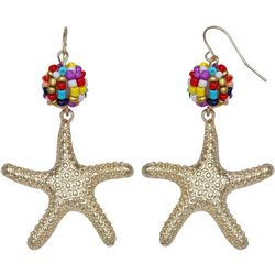 Bay Studio Seedbead Ball Starfish Drop Earrings