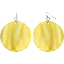Bay Studio Dyed Yellow Shell Disc Drop Earrings