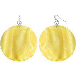 Bay Studio Dyed Yellow Shell Disc Drop Earrings
