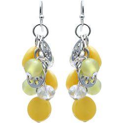 Bay Studio Yellow Bead & Shell Cluster Earring