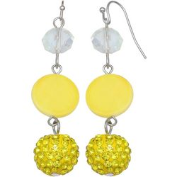 Bay Studio Yellow Shell Bead Fireball Earrings