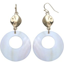 Bay Studio White Shell Donut Drop Earrings