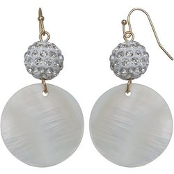 Bay Studio Fireball & White Shell Drop Earrings