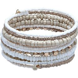 Bay Studio Multi Row Beaded Coil Bracelet