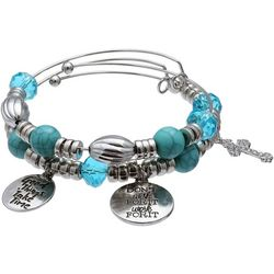 Jules B 2-pc. Beads & Charms Bangle Bracelet Set