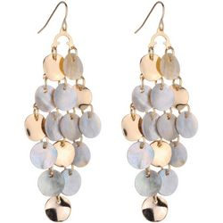 Bay Studio Shell & Gold Tone Disc Kite Earrings