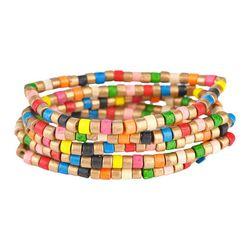 Bay Studio Rainbow Beaded Stretch Bracelet Set