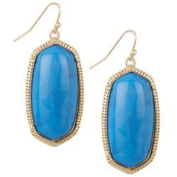 Nicole Miller New York Blue Oval Drop Earrings