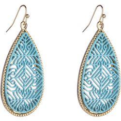 Nicole Miller New York Aqua Filigree Earrings