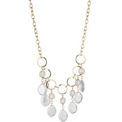 Bay Studio Pearl & Shell Shaky Frontal Necklace