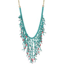Bay Studio Turqoise Beaded Statement Necklace