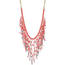 Bay Studio Coral Seedbead Statement Necklace