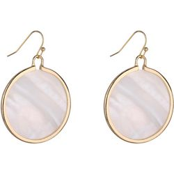 Bay Studio White Shell Disc Drop Earrings