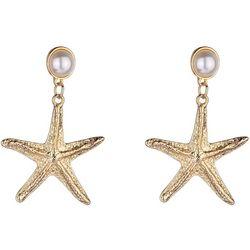 Bay Studio Pearl Starfish Drop Earrings