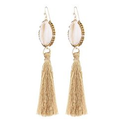 Bay Studio Cowrie Shell & Tassel Drop Earrings
