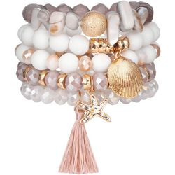Bay Studio 5 Pc Beaded Sealife Stretch Bracelet Set