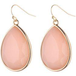 Jones New York Peach Facet Teardrop Earrings