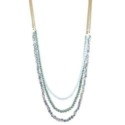 Jones New York Triple Row Layered Frontal Necklace