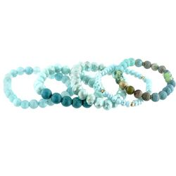 Jones New York 5 Pc Aqua Multi Beaded Bracelets