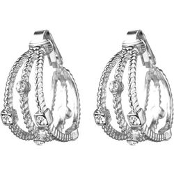 Jones New York Triple Row Clip Hoop Earrings