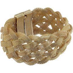 Jones New York Braided Gold Tone Magnetic Bracelet