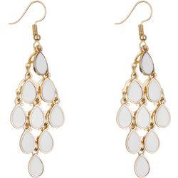 Nicole Miller New York White Enamel Kite Earrings