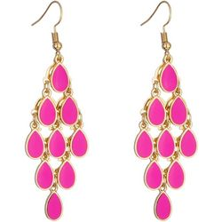 Nicole Miller New York Pink Teardrop Kite Earrings