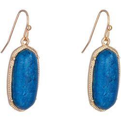Nicole Miller New York Blue Stone Drop Earrings