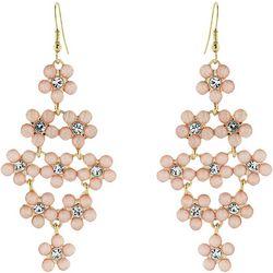 Nicole Miller New York Floral Kite Dangle Earrings