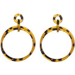 Nicole Miller New York Tortoise Ring Drop Earrings