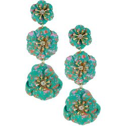 Nicole Miller New York Triple Flower Earrings