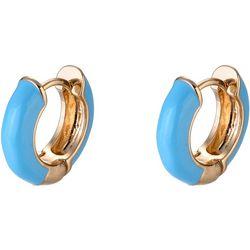 Nicole Miller New York Blue Huggie Hoop Earrings