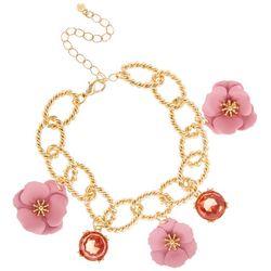 Nicole Miller New York Flower Charm Bracelet