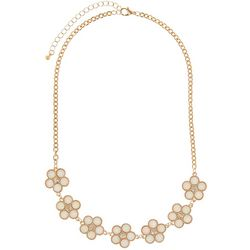 Nicole Miller New York MOP Flower Frontal Necklace