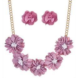 Nicole Miller New York Flower Frontal Necklace Set