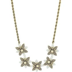 Nicole Miller New York Rhinestone Flower Necklace