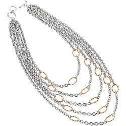 Jones New York Two Tone Multi Row Layered Necklace